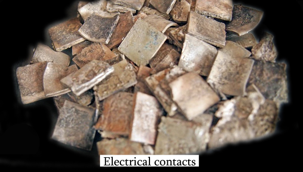 Scrap Electrical Contacts Recycling Silver Refinery